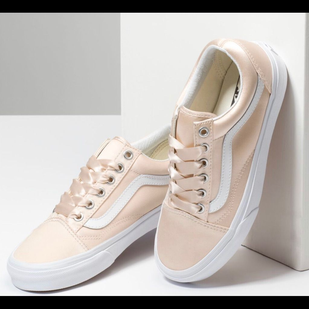 Vans Shoes | Satin Lux Old Skool Vans. Mens Sz 7.5 Womens Sz