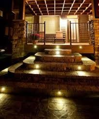 Outdoor stairway lighting Diy stair Lights led Stair Lights led Step Lights stairwell Lighting Outdoor Pinterest Stair Lights led Stair Lights led Step Lights stairwell Lighting