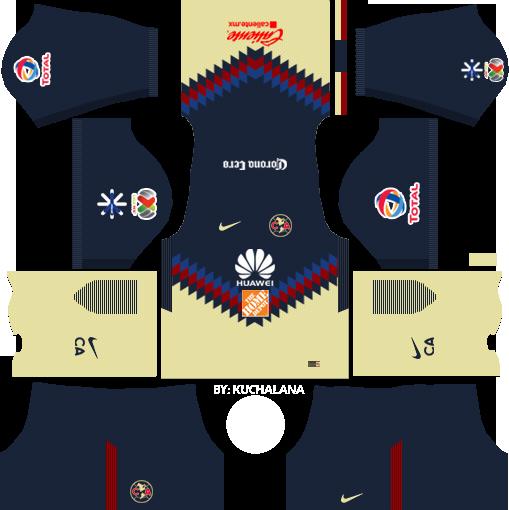 Dream League Soccer Kits Club America 2017/2018 & Logo URL