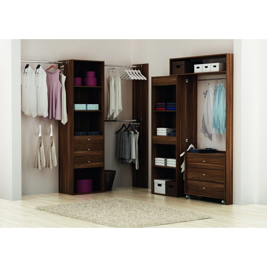 kit placard dressing avec colonne 60cm et 3 penderies. Black Bedroom Furniture Sets. Home Design Ideas