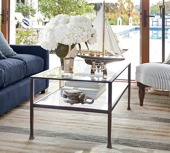 Tanner Rectangular Coffee Table Coffee Table Pottery Barn