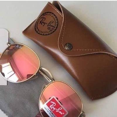 Óculos Redondo 3447 Round Rosa Espelhado John Lennon Rose - R  99,99 ... a38af842f7