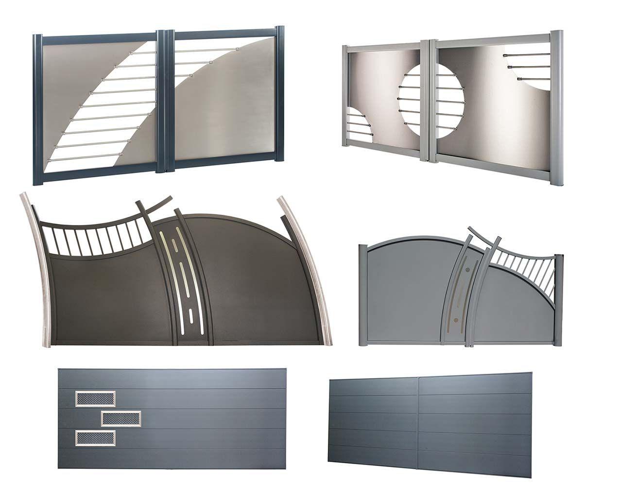 portail en aluminium et inox de la gamme esth te avec. Black Bedroom Furniture Sets. Home Design Ideas