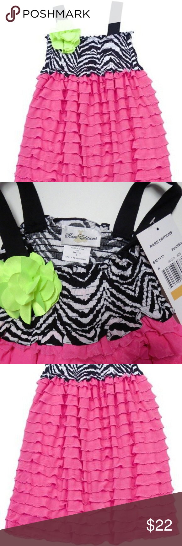 Rare Editions Girl Tiered Ruffle Smocked Sun Dress RARE EDITIONS little  girl s adorable spring summer sleeveless 1cb2e07a8