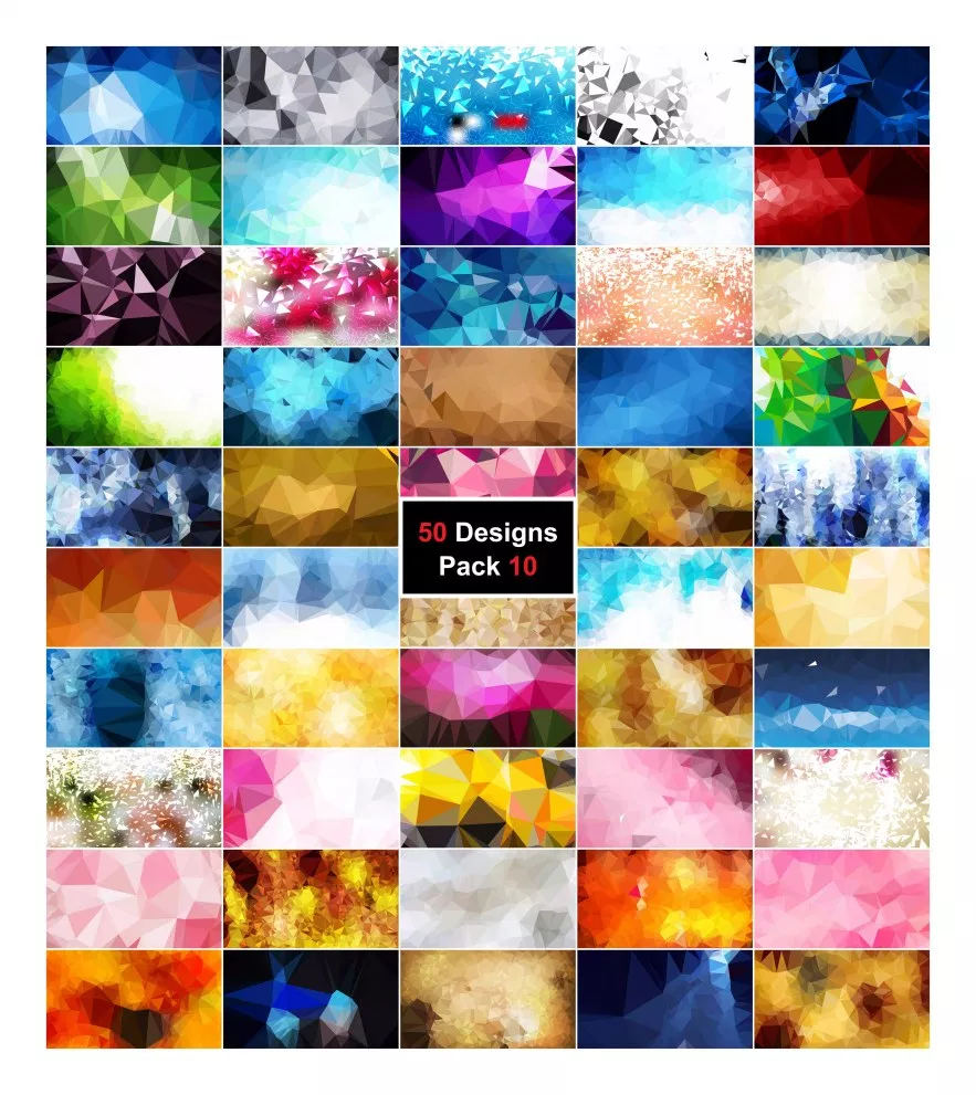 50 Abstract Polygon Background Vector Pack 10