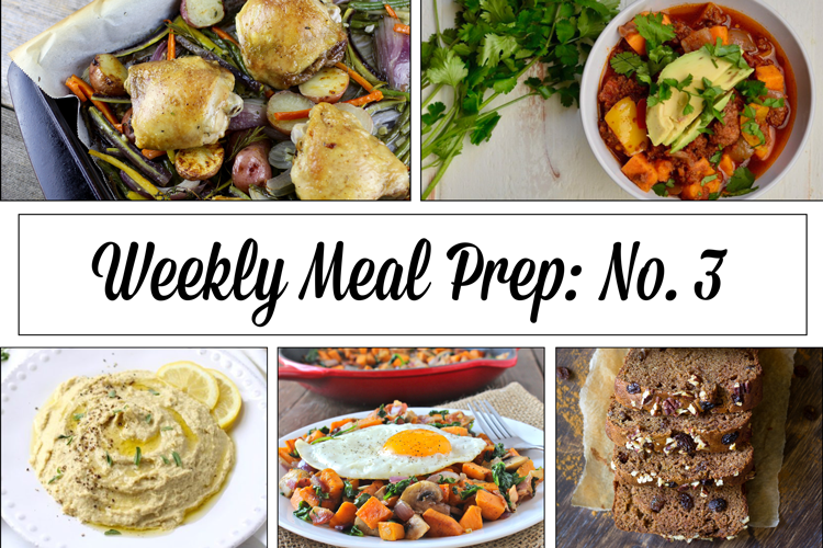 Save time, save money and eat well this week with our Weekly Meal Prep Menu: No.3 featuring 5 fast and easy gluten-free recipes you can make this weekend!