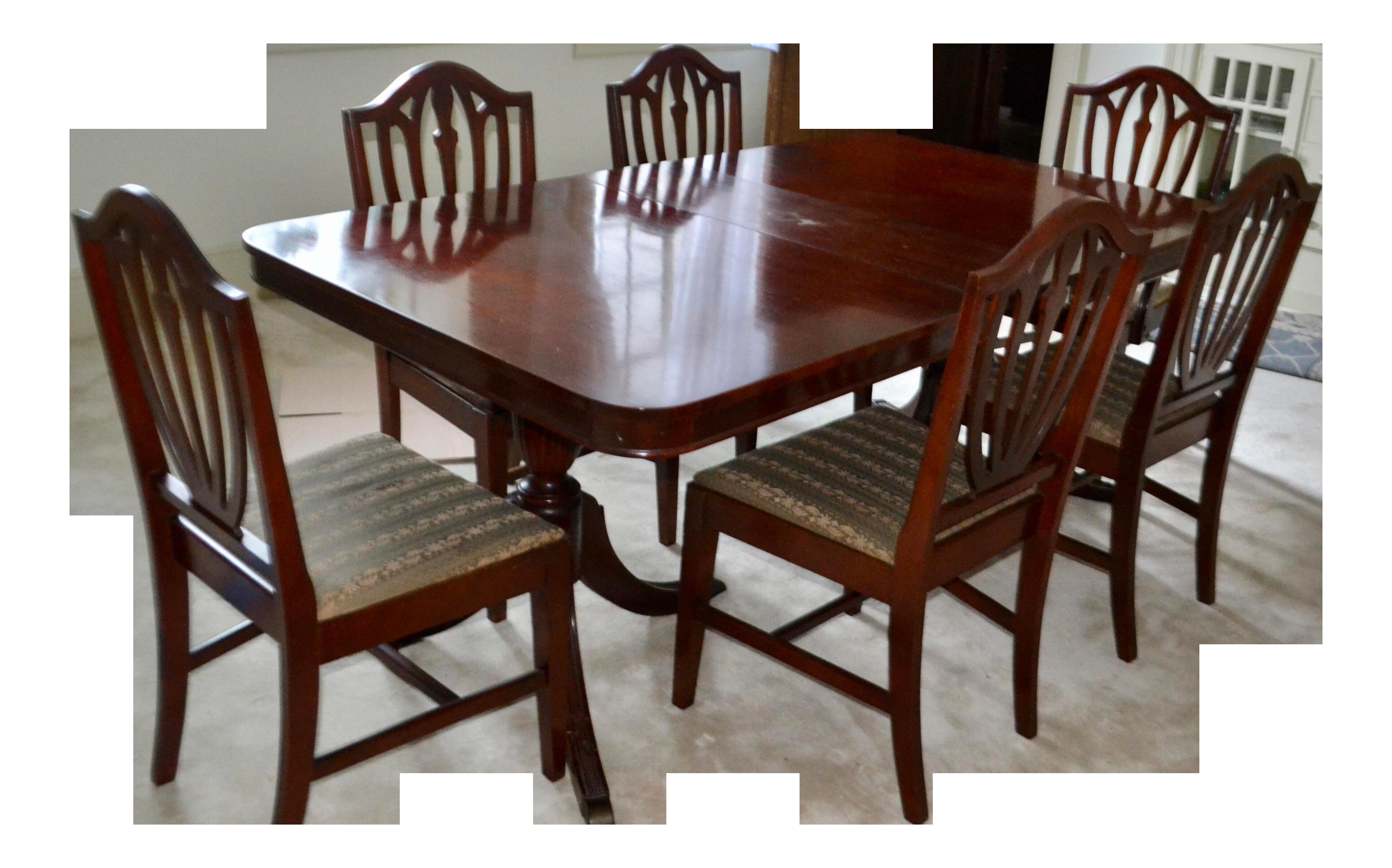 Vintage Victorian Tudor Mahogany Dining Set. Dining SetsDining TableTudor DollhousesMiniatures