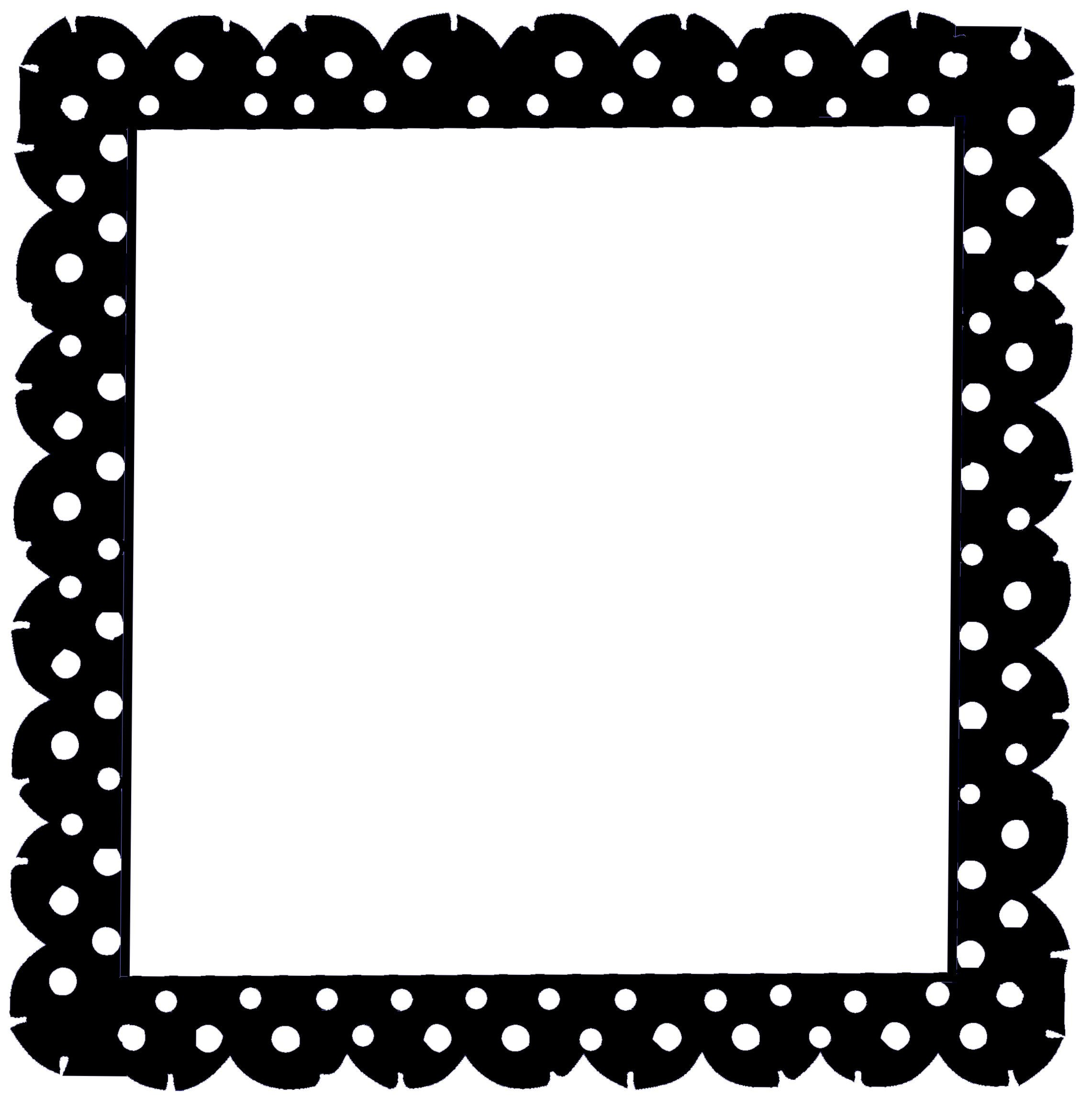scrappinfun com kits fonts and more silhouette pinterest rh pinterest ca  black and white polka dot border clip art free
