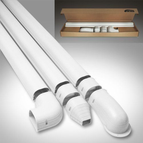 Airtec Fortresstm 12 Lineset Wall Duct Kit White Finish 3 1 2 Width Ldk92w By Rectorseal Air Conditioner Ducts Air Conditioner Heat Pump Air Conditioner