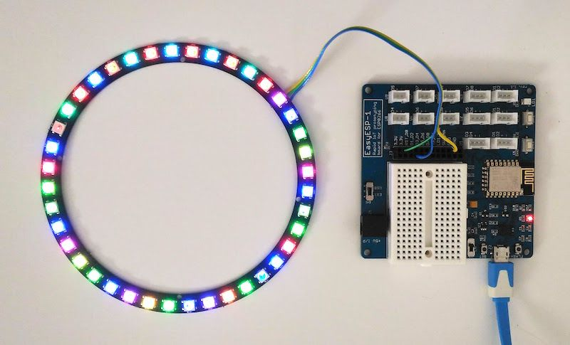 This tutorial describes how to interface a WS2812B RGB LED