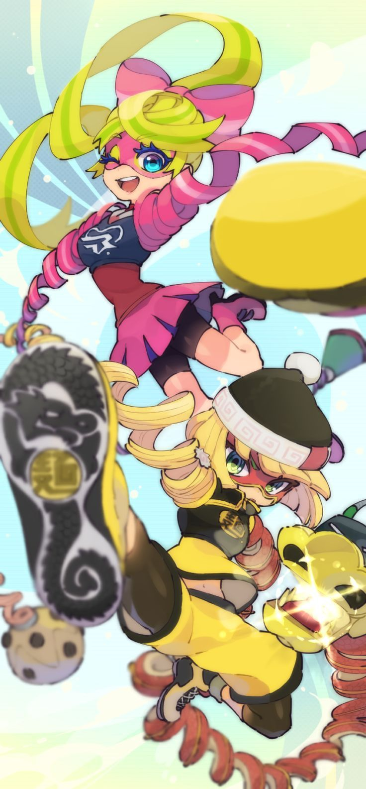Arms so cute ribbon girl and min min switch nintendo