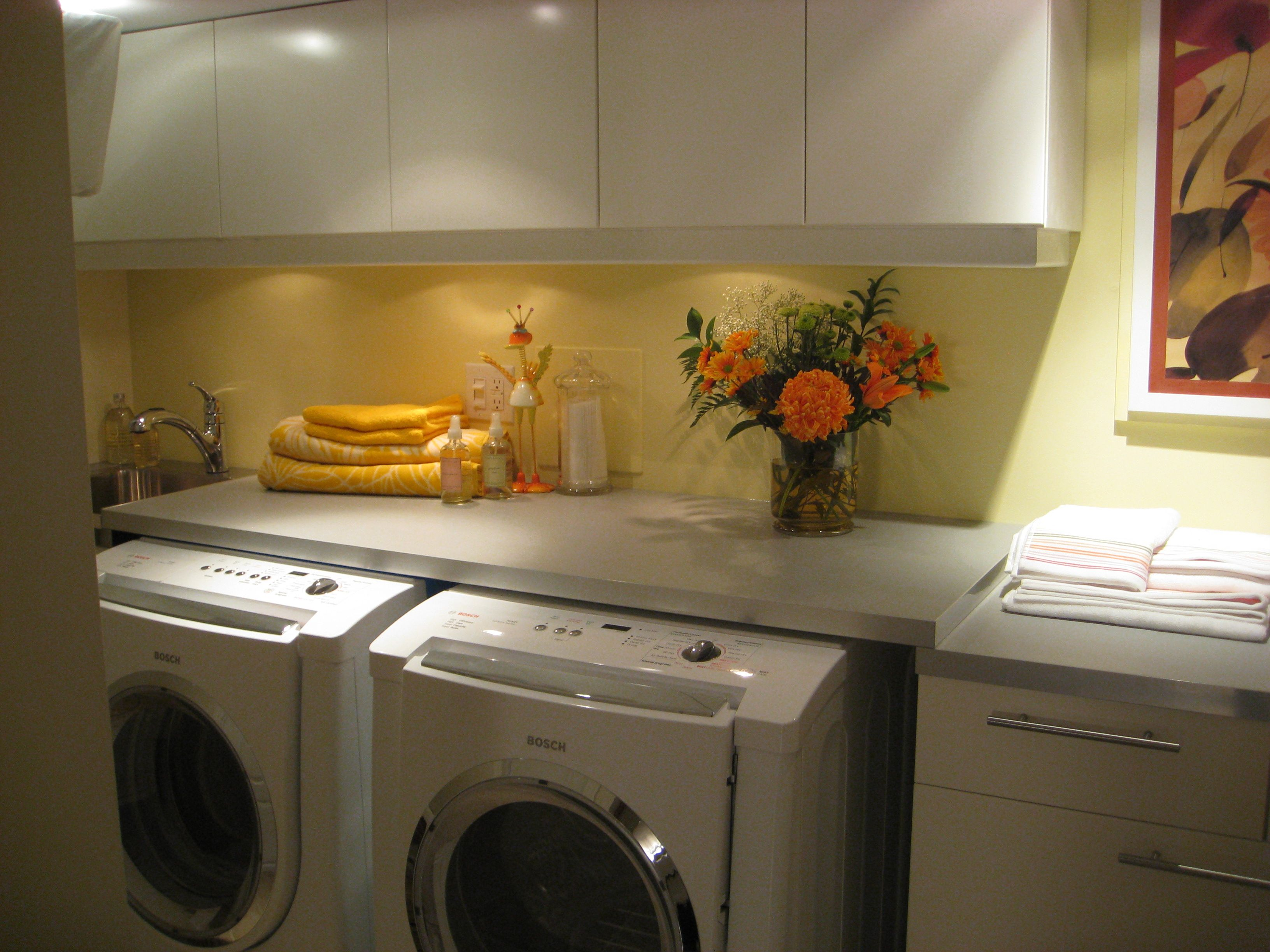 Basement laundry room ideas DIY design colors pipes cheap cement