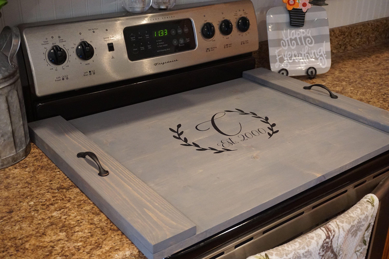 Initial Stove Top Tray Custom Stove Tray Wood Stove Cover Custom