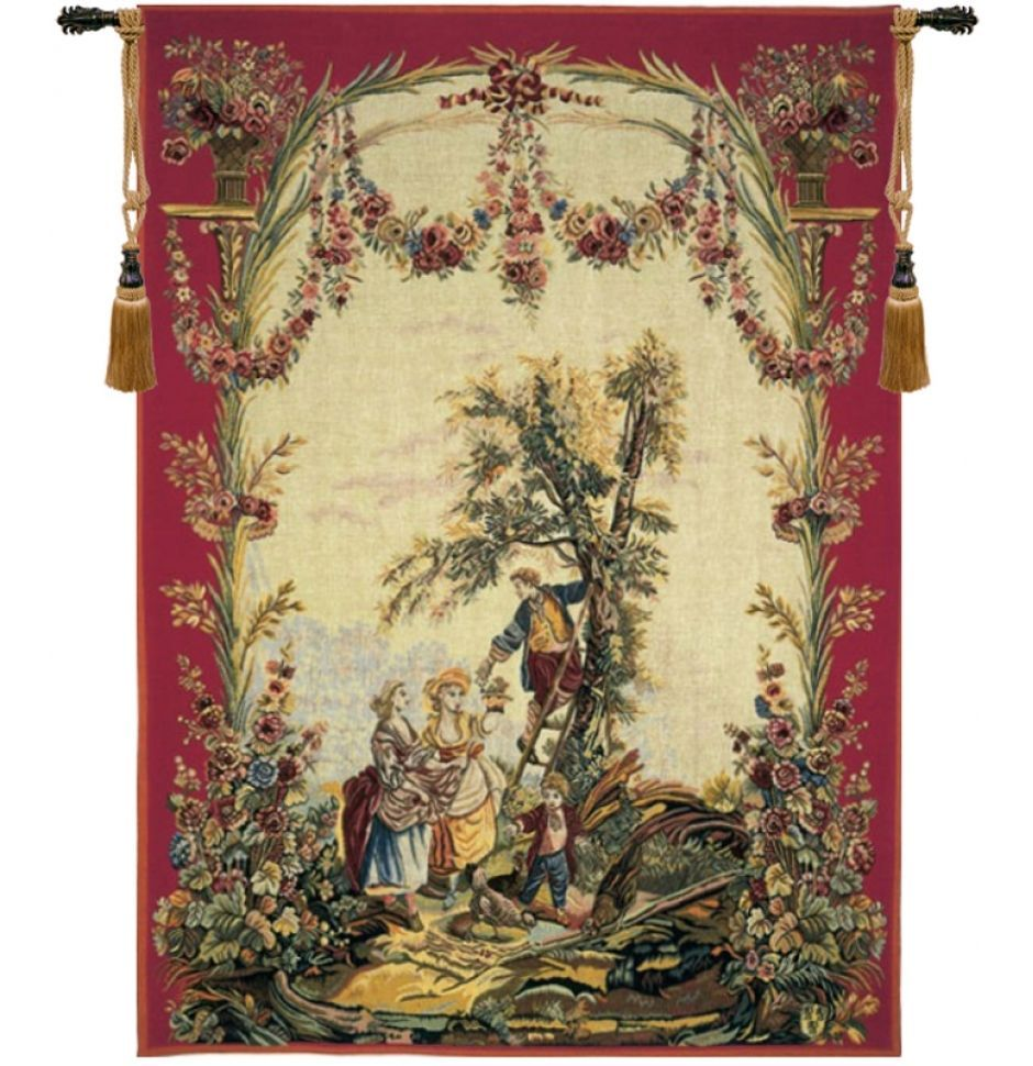 Le temps des cerises (Cherry Time) French Tapestry Wall Hanging H 56 ...