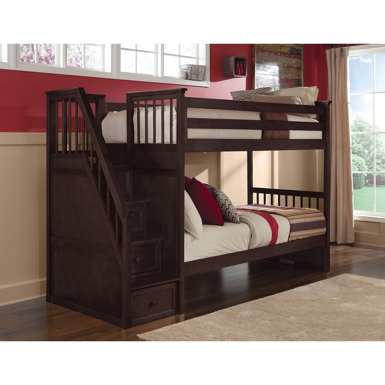 Slide for loft bed  Make going to bed fun for your kids with this School House Stair