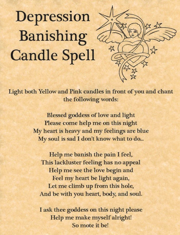Depression Banishing Candle Spell, Book of Shadows Page, BOS Pages, Witchcraft picclick.com.... This chart is by Magickal Moonies Sanctuary.