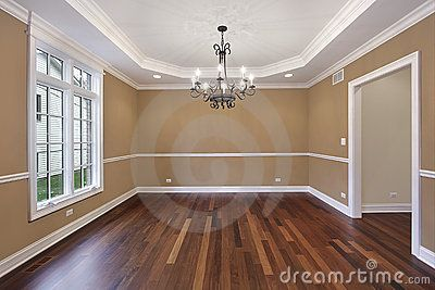 Dark Laminate Flooring And Tan Walls