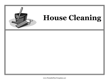 This Printable Flyer Features A Graphic Of A Pail And Cleaning
