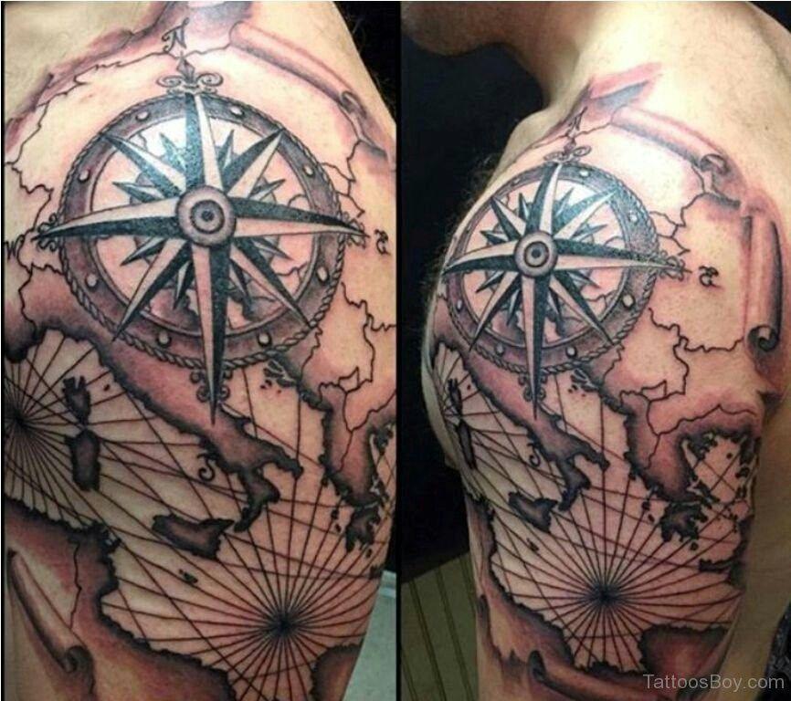 21 World Map Tattoo Designs Ideas: Map Background Tattoo