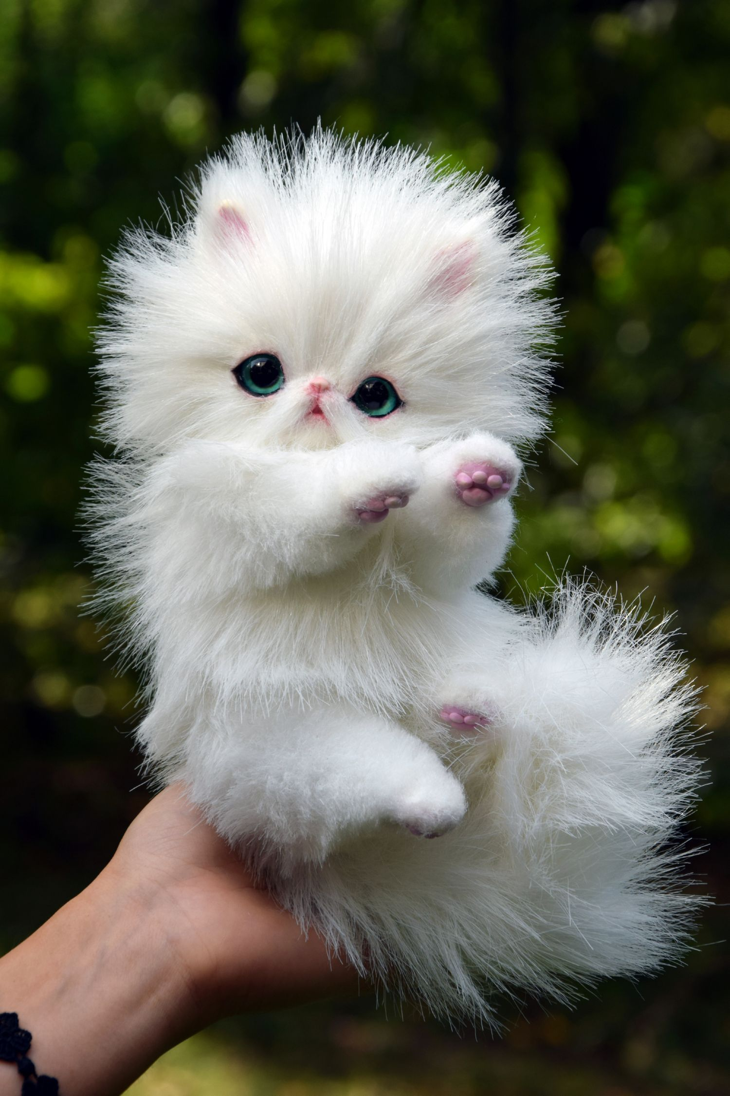 Persian Kitten And Fantasy Cats Toy By Monkeybusinesstoys Cute Little Puppies Cute Little Animals Cute Baby Animals