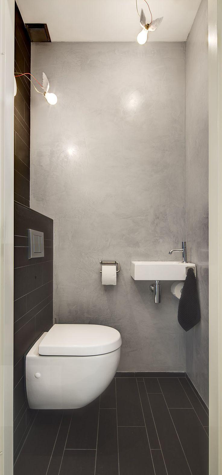 Inspiration #déco pour des #WC #moderne ! #gris #noir #décoration ...