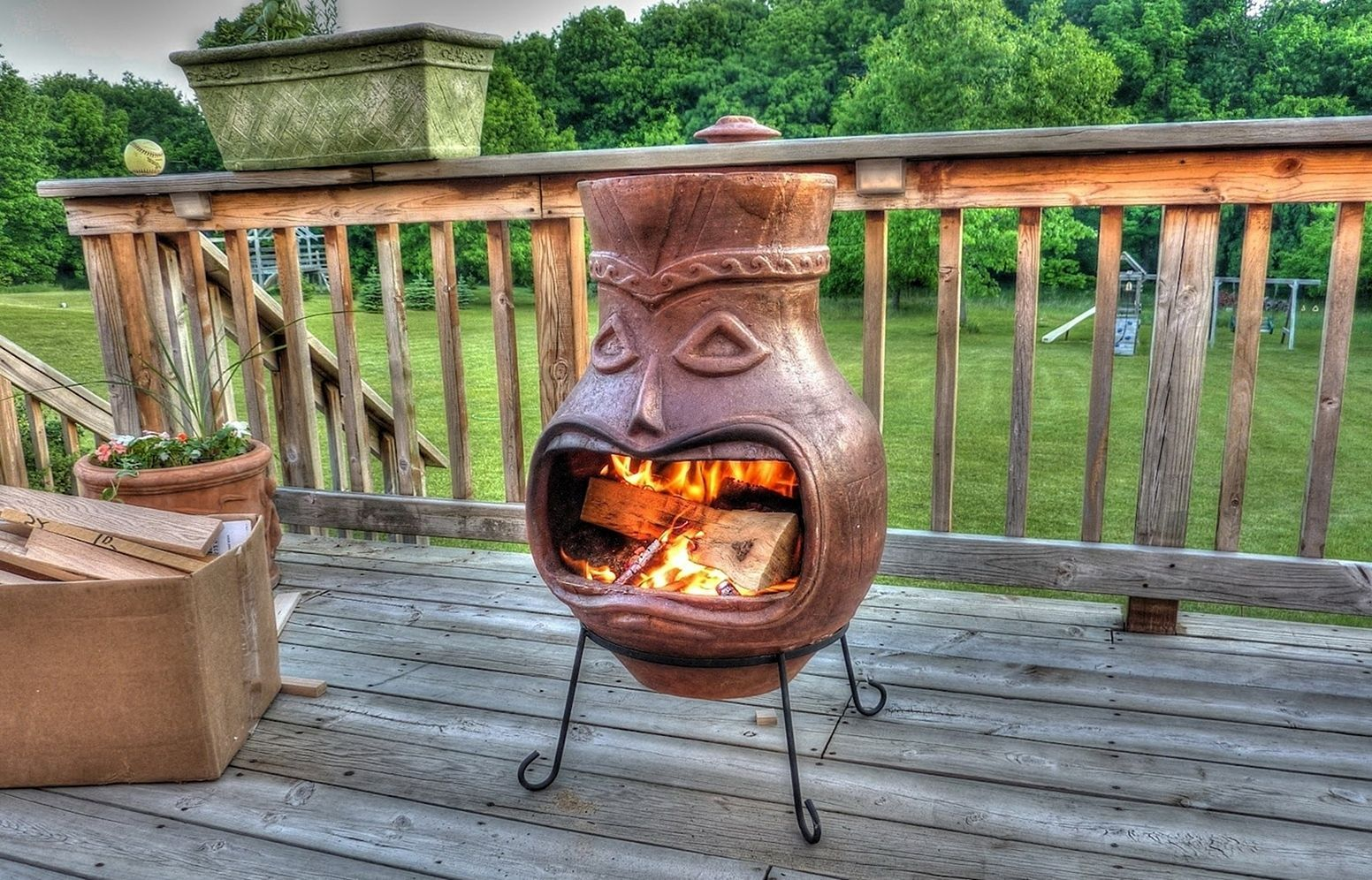 20 Diy Fireplace Design Ideas For Home Outdoor Decoration On A Budget Dexorate Chiminea Fire Pit Outdoor Fireplace Designs Outdoor Fire Pit