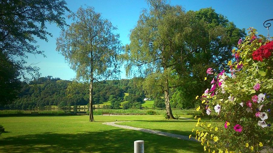 Summer sunshine on our Terrace at The Daffodil, Grasmere   The heart of the Lake District