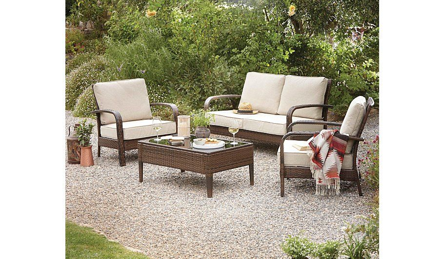 Buy Jakarta 4 Piece Conversation Sofa Set from our Conservatory