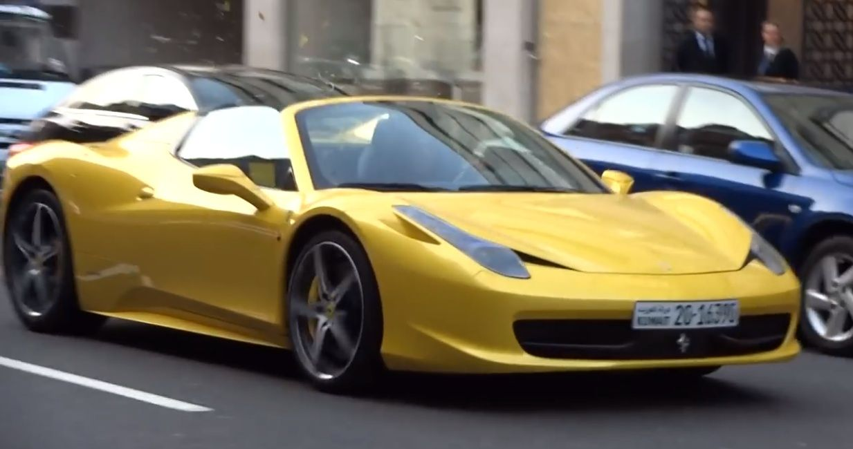 Watch Yellow Ferrari 458 Spider Attacked With Eggs Ferrari 458 Ferrari Ferrari 458 Italia