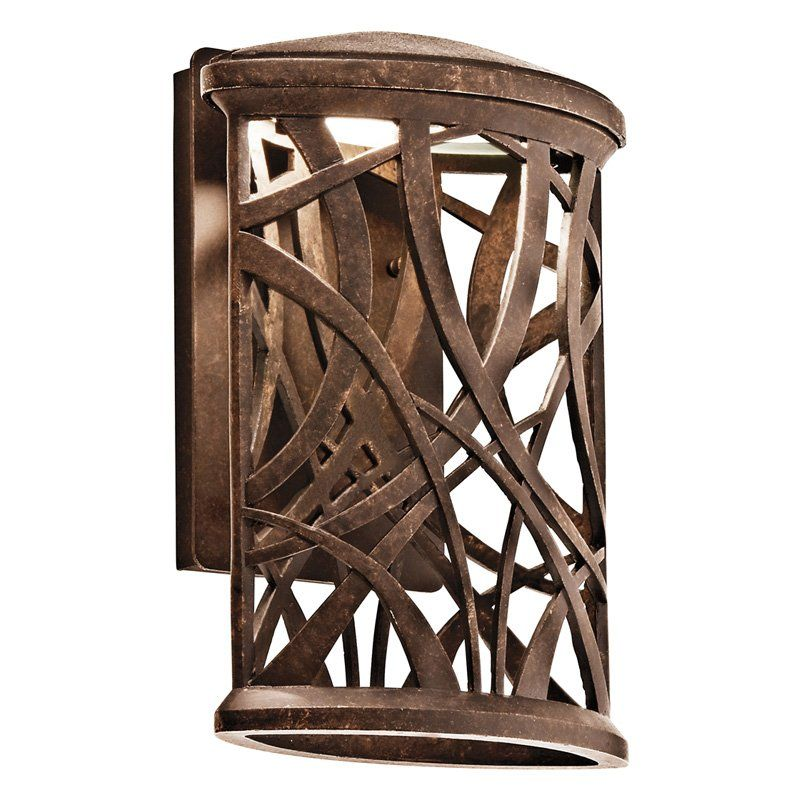 Kichler 49249AGZLED Maya Palm LED Outdoor Wall Light - 13.75H in. Bronze Finish $250