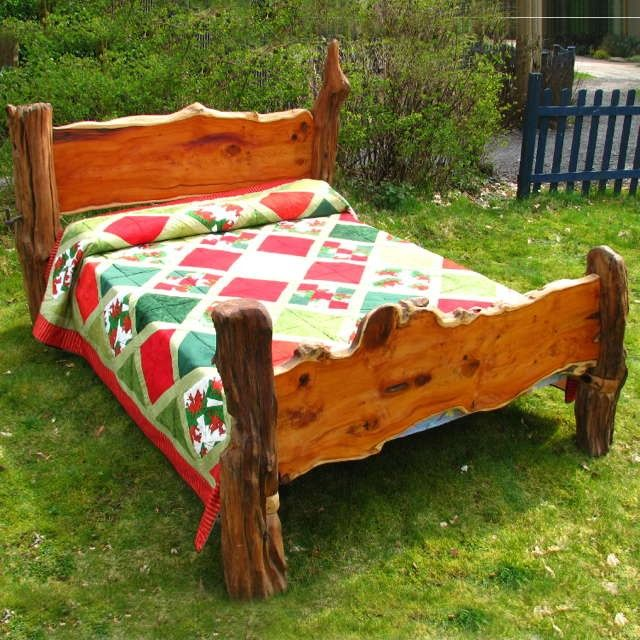 yew and oak bed - Driftwood Bed Frame