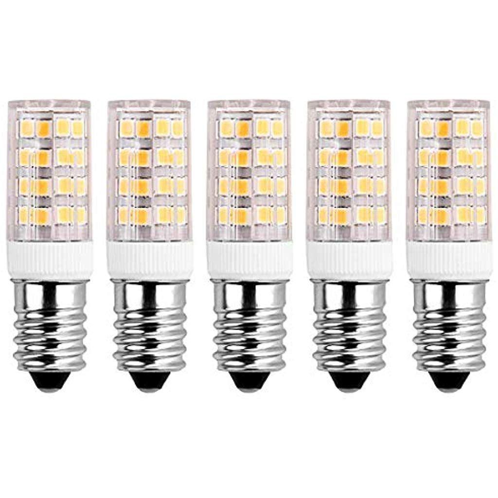 Sanglory 5er Pack 5w E14 Led Lampe Ersetzt 40w Gluhlampewarmweiss 3000 Kelvin400 Lumen E14 Energiesparlampe Fur Kuhlschra Led Lampe Beleuchtung Innenbeleuchtung