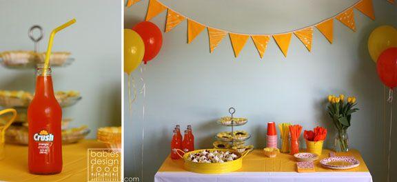 orange  party | Ava's Yellow & Orange Birthday Party