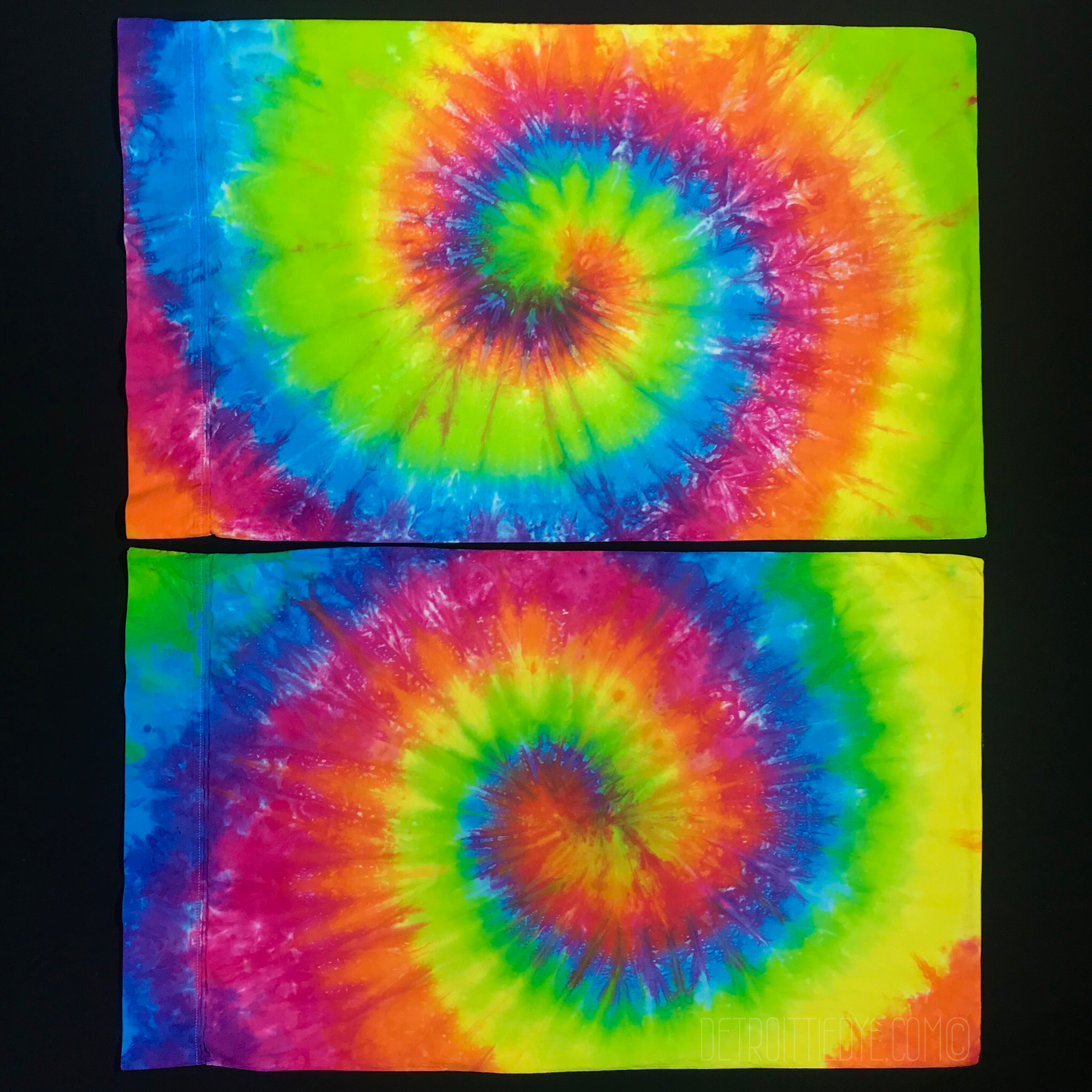 Rainbow Spiral Tie Dye Pillow Cases