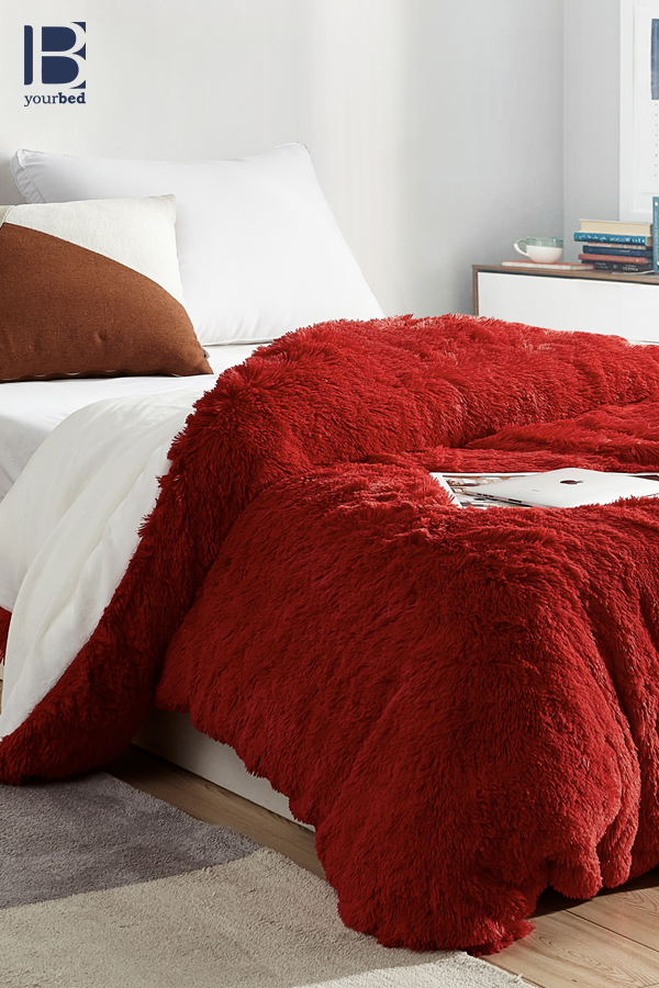 Machine Washable Twin Xl Queen Xl Or King Xl Duvet Cover Made With Warm And Cozy Plush Red Duvet Cover Duvet Covers Large Duvet Covers