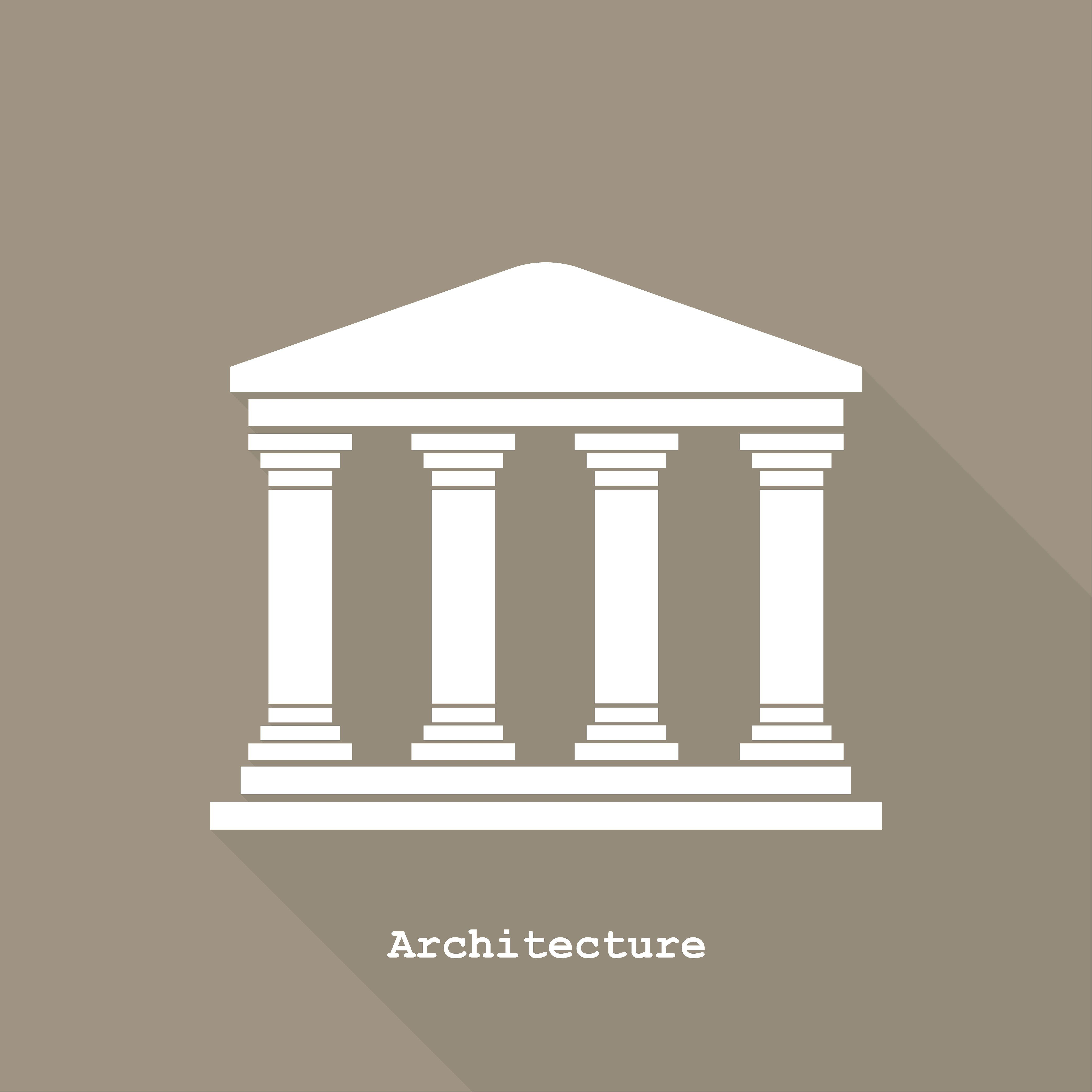 Greek Temple Icon Greek Temple Ancient Egyptian Architecture Greek Buildings