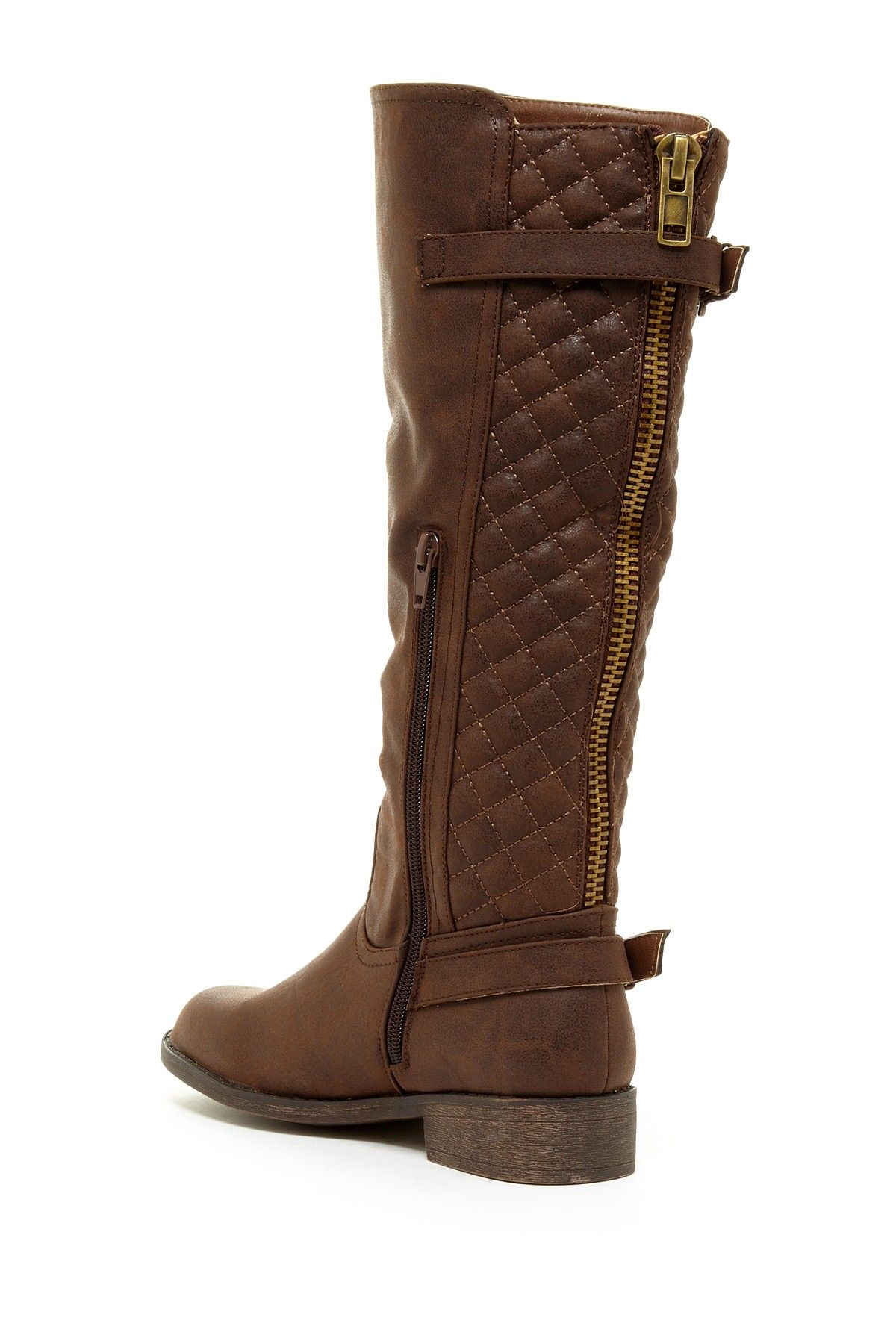 Volar Fashion Nadin Quilted Two Strap Riding Boot by Volar Fashion on @nordstrom_rack