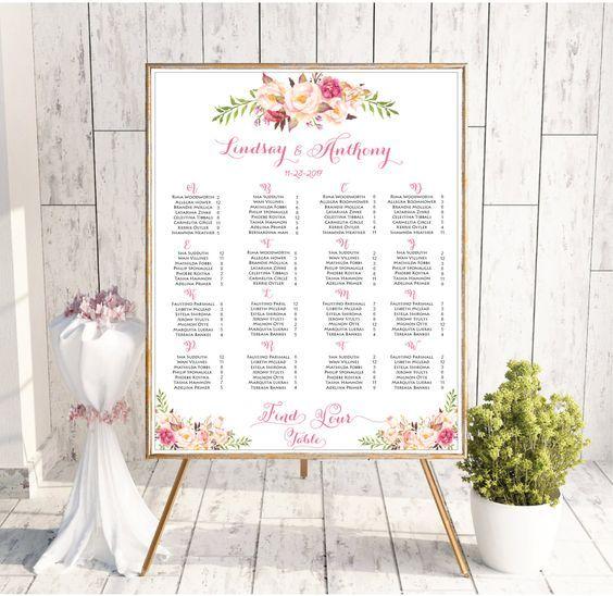 Wedding Seating Chart Template, Wedding Seating Chart