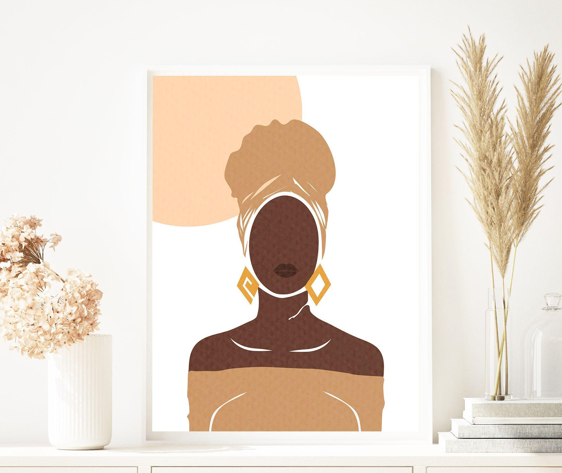 Boho Wall Decor Prints Boho Chic Wall Decor African American Etsy In 2020 African Wall Art Boho Wall Art African American Wall Art