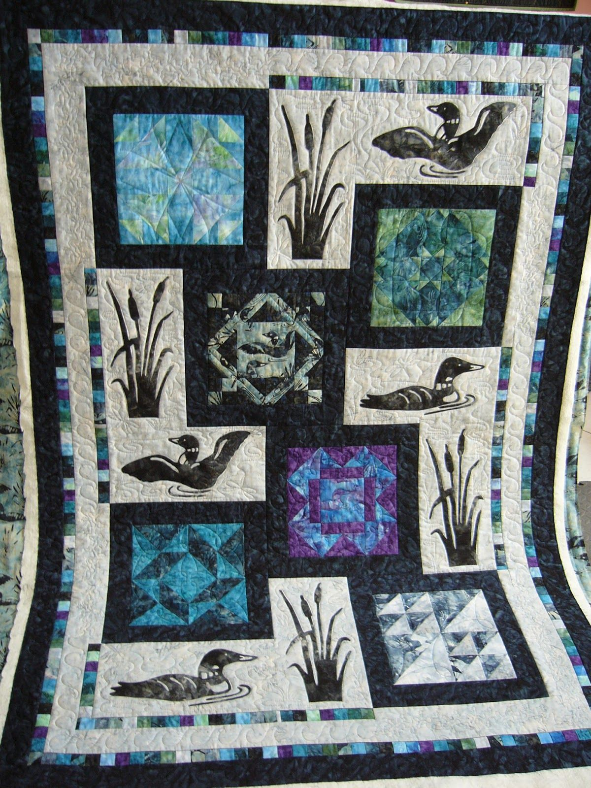 loon quilt - Google Search | Quilt | Pinterest | Wildlife quilts ... : loon quilt pattern - Adamdwight.com