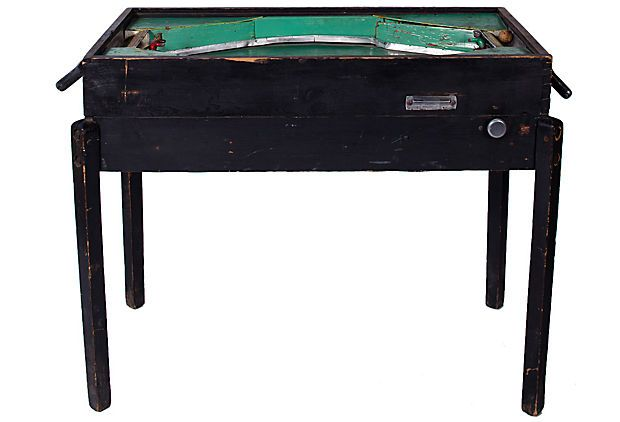 KATHLEEN & MAURIZIO ALMANZA  1940s Italian 2-Man Pinball Game Table