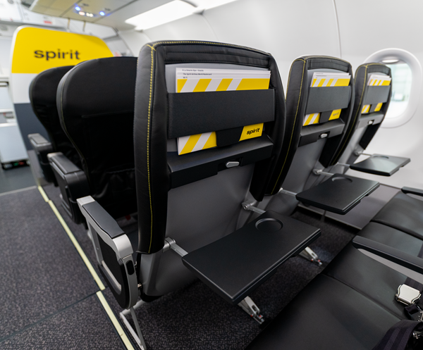 Spirit Airlines Unveils Updated Cabin Design With More Comfortable Spacious Seats Cabin Design Spirit Airlines Seat Design