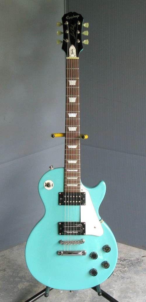 vintage epiphone les paul turquoise teal aqua fender bass guitar guitar epiphone les paul. Black Bedroom Furniture Sets. Home Design Ideas