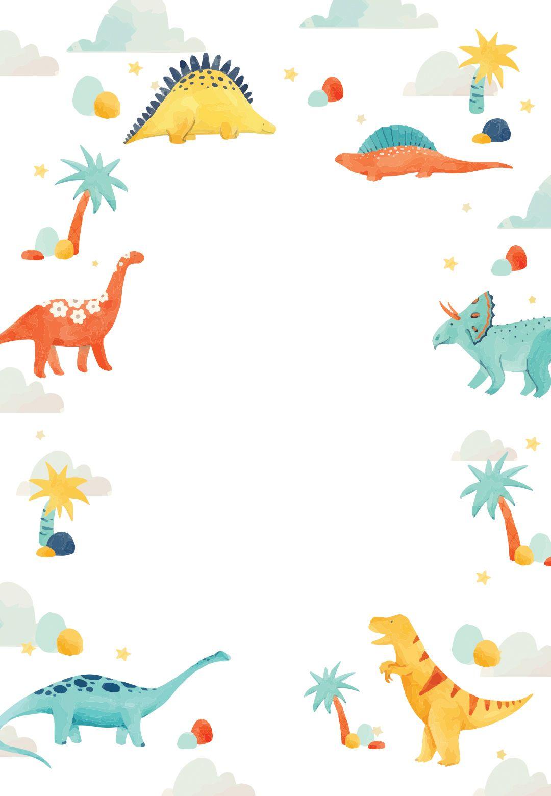 Dinosaur Adventure Birthday Invitation Template Free