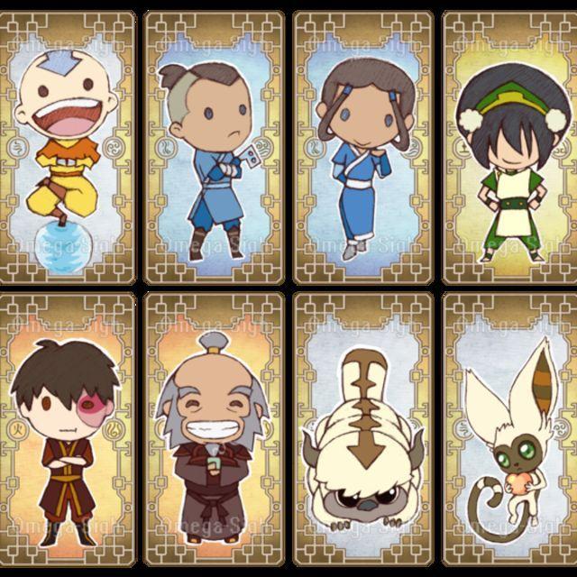 Avatar The Last Airbender Aang Sokka Katara Toph Zuko Iroh Appa Momo