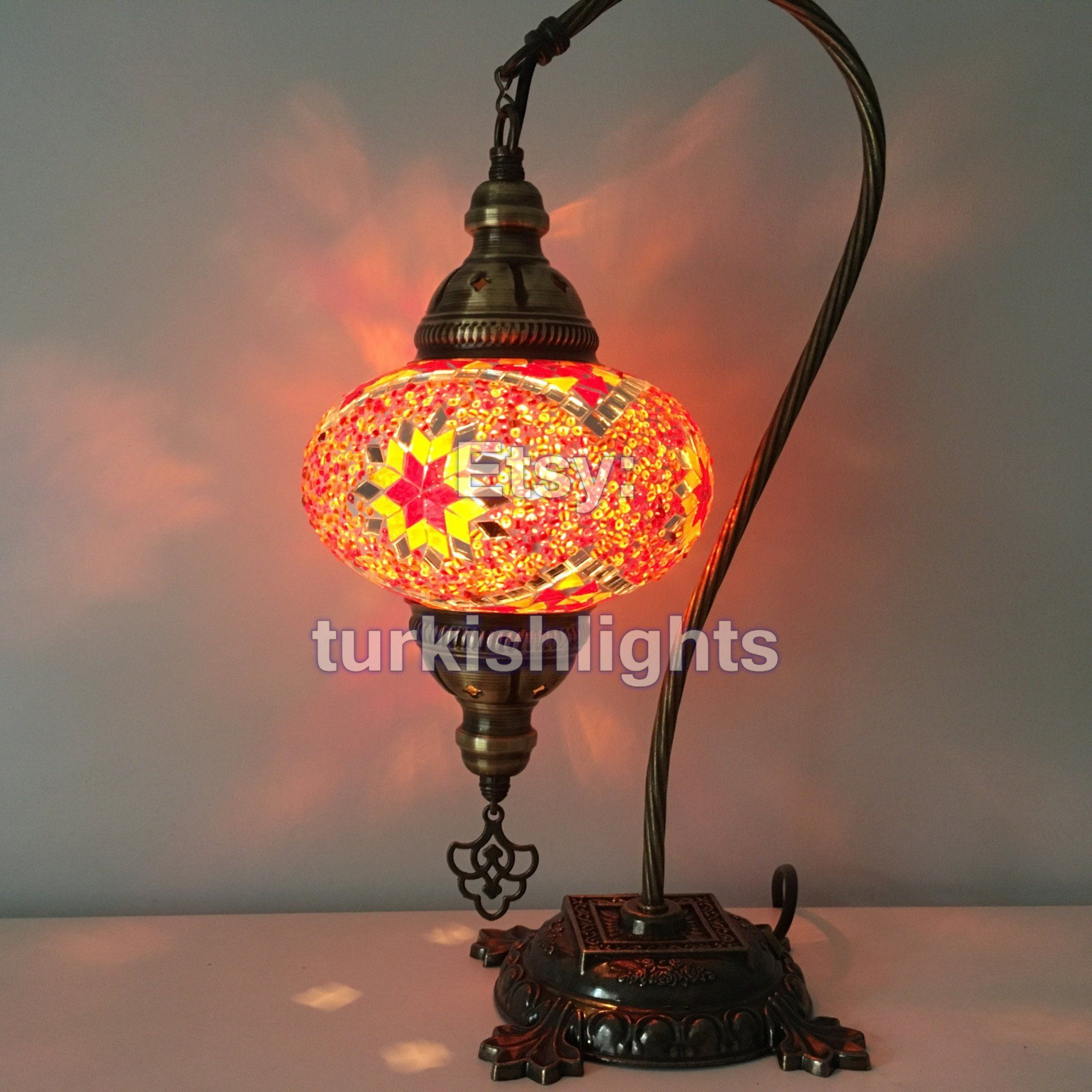 Bedside Table Lamp With Globe
