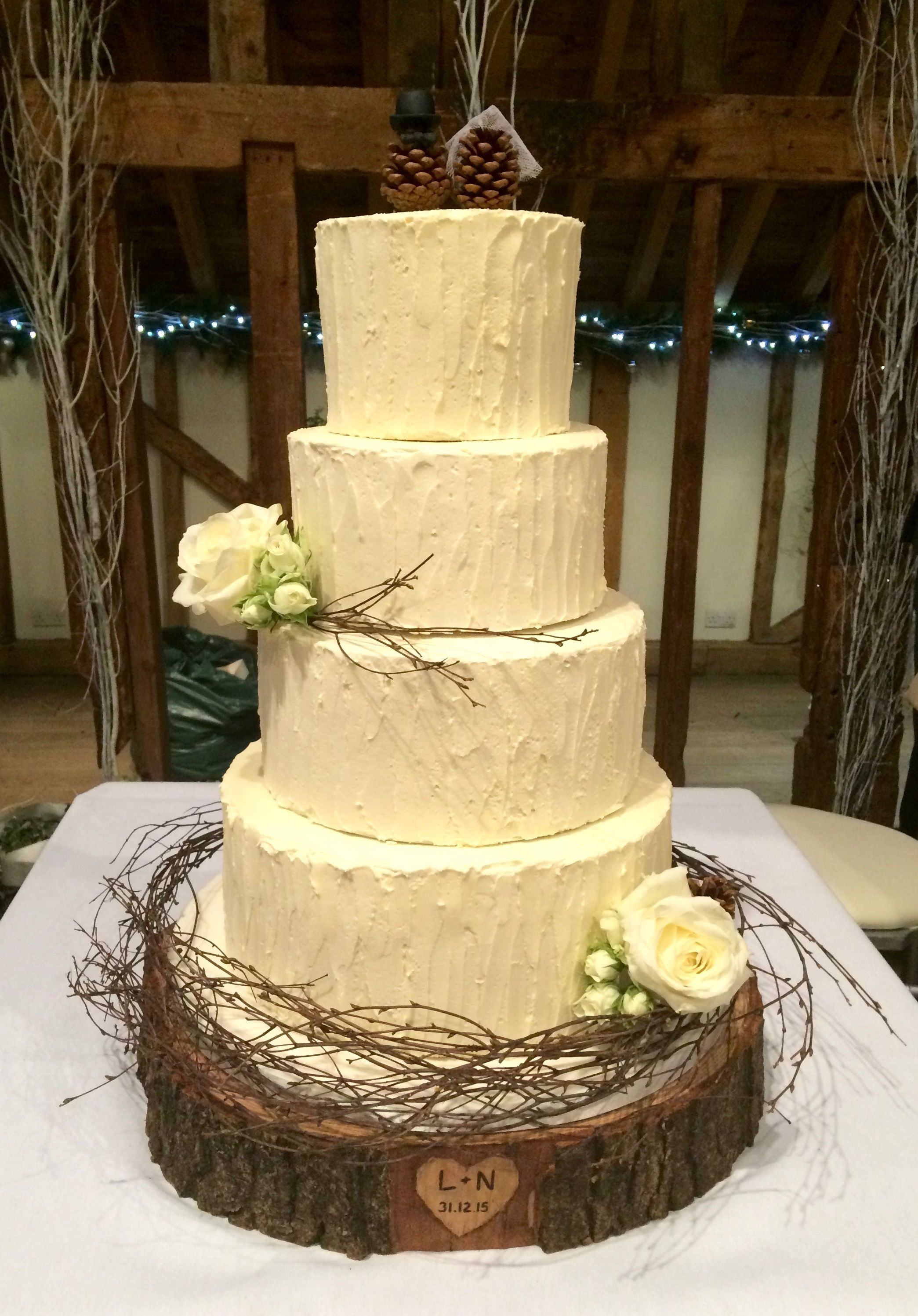 Rustic Wedding Cake by Katy Made Cakes - Wedding and Birthday Cakes ...