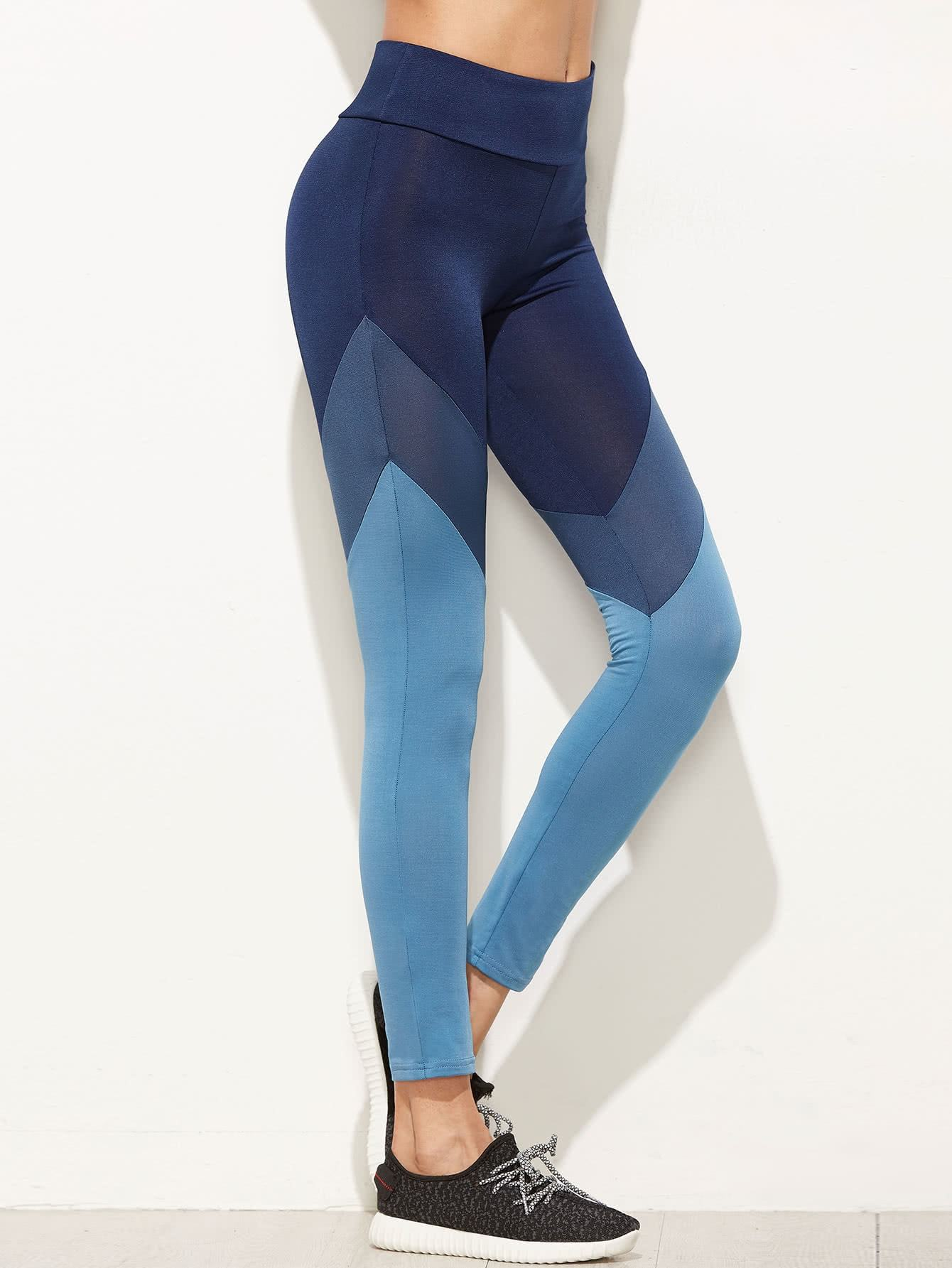 093f4b467d84d9 Color Block Cut And Sew Leggings in 2019   Michelle Active Wear ...