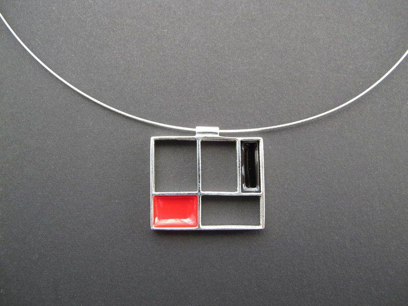 Petit Mondrian necklace - Patrícia Jewelry, Barcelona