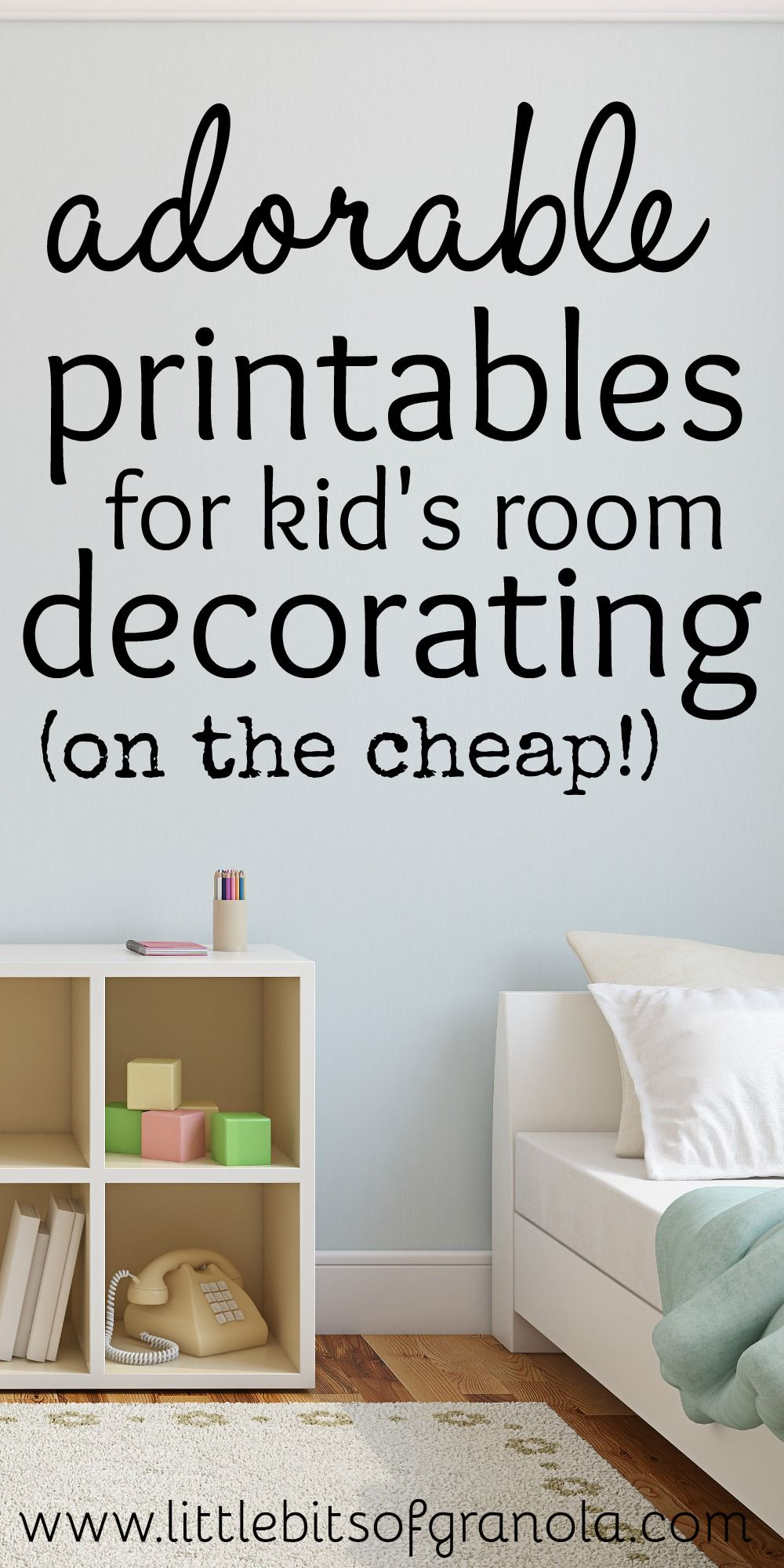 Amazing kids room printable wall art for cheap or free